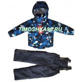 """Демисезонный мембранный костюм Moldos """"Синий калейдоскоп"""" рост 86-110"""
