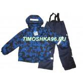 """Демисезонный мембранный костюм Super Gift """"Тетрис"""" синий рост 110-140"""
