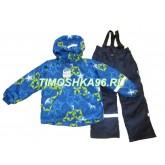 SUPER GIFT зимний мембранный костюм ЗВЕЗДЫ СИНИЕ 110-140