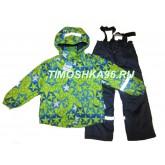 SUPER зимний мембранный костюм ЗВЕЗДЫ ЗЕЛЕНЫЕ 110-140