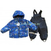 """Демисезонный мембранный костюм для малышей Super Gift """"Автопарк"""" рост 74-98"""