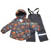 """Super Gift Демисезонный мембранный костюм """"Лисички"""" оранж рост 92-116"""