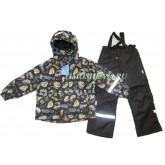 """Super Gift Демисезонный мембранный костюм """"Автопарк"""" темный рост 110-140"""