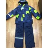 SUPER GIFT Зимний мембранный костюм КВАДРАТЫ САЛАТ 110-140