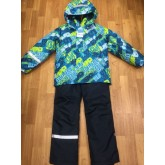SUPER GIFT зимний мембранный костюм БУКВЫ 110-140